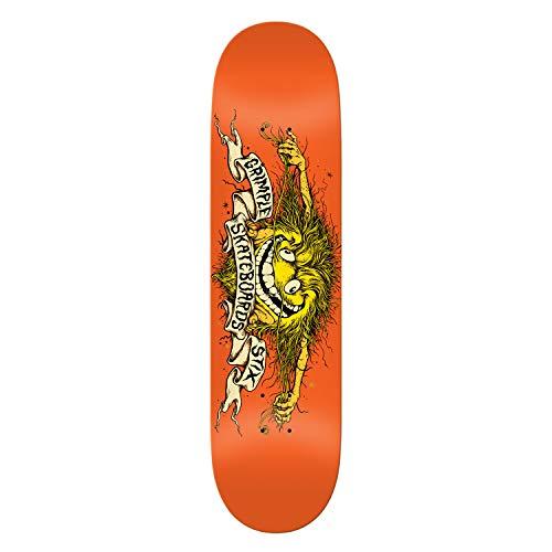 (Anti Hero Skateboard Deck Gimplestix Collab Orange 8.25