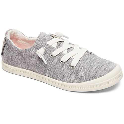 Roxy Girls' RG Bayshore Sneaker, Grey Heather, 2