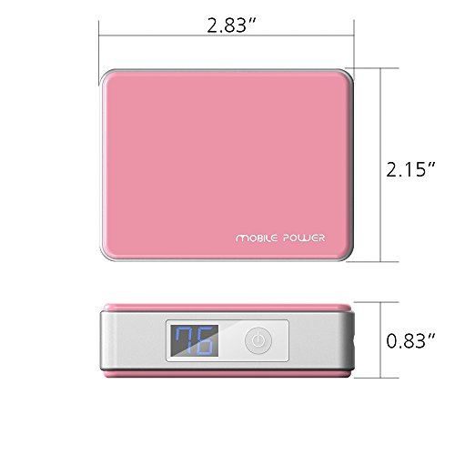 MAXOAK 5200mah strength Pack strength Bank portable Charger Extended Backup Battery for clever phone Iphone 6 Plus 6 5s 5c 5 4s Ipad Air little Android Cell phone Samsung Galaxy S5 S4 S3 Note Nexus 6 Moto X Lg G3 HTC Nokia Motorola and far more S12 Pink Batteries