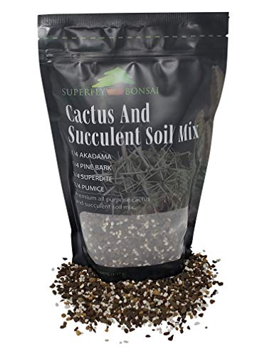 (Succulent & Cactus Soil Mix - Premium Pre-Mixed Fast Draining Blend (1.25 Dry Quarts))