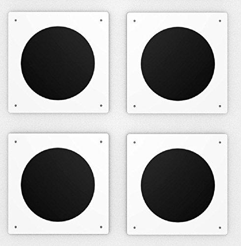 4 Zirkelpunkte für Reitplatz und Halle - 20 x 20 cm - 5 mm Kunststofftafeln Lausitzwerbung 4ZP-20x20-KS