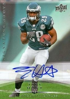 Tony Hunt autographed Football Card (Philadelphia Eagles) 2008 Upper Deck Signature Shots Rookie - Football Autographed Rookie Cards