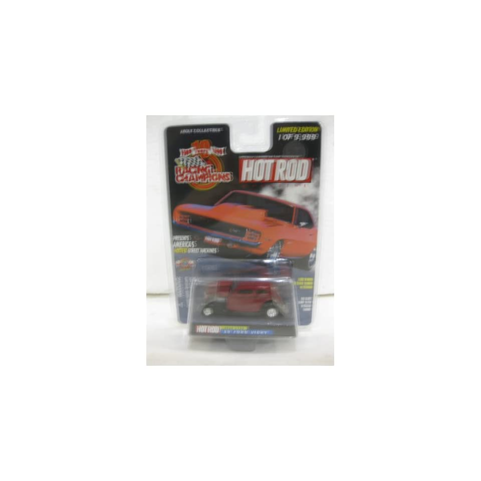 1933 Ford Vicky Issue #155 In Maroon Diecast 164 Scale Hot Rod Magazine By Racing Champions