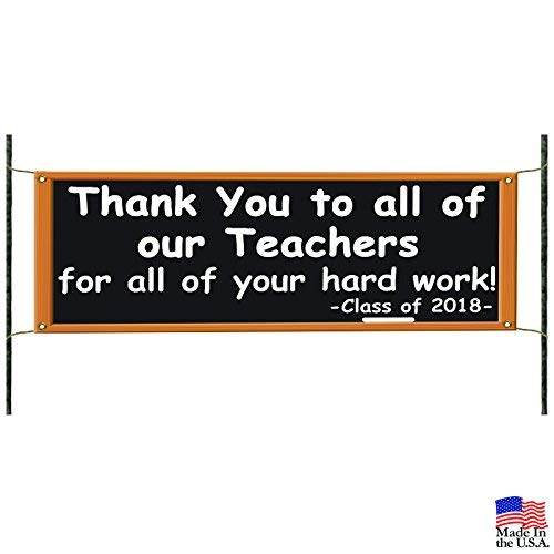 Freedom45457 Teacher Appreciation Class of 2018 School Spirit Graduates Warning Metal Signs Aluminum Funny Novelty Notice Sign 8