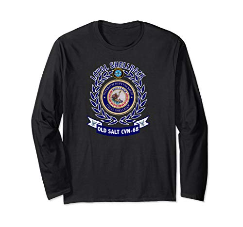USS Nimitz CVN-68 Shellback Logo Long Sleeve T-Shirt