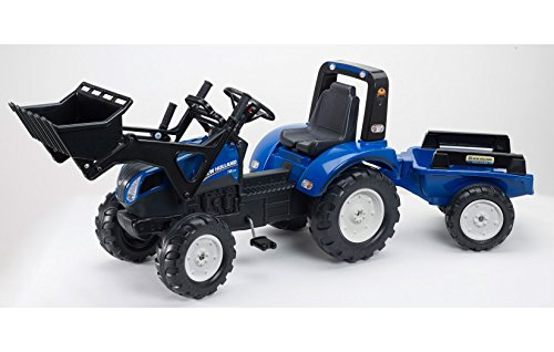 Falk New Holland Pedal Tractor w/ Ft Loader and Trailer FA3090M