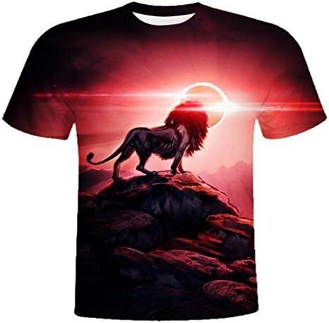 メンズ 半袖 Tシャツ 3Dプリント 狼柄 ストリート ダンス用 旅行 部活 友達お揃い 格好いい プレゼント M-2XL