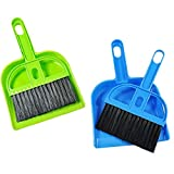 Mini Cleaning Broom Brush and Dustpan Set Broom Brush + Dustpan Desktop Sweep Cleaning Brush Dustpan Set