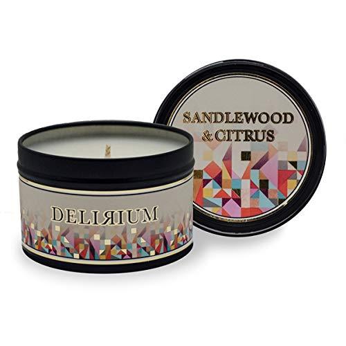 Delirium - Sandalwood & Citrus Travel Tin Candle by Delirium