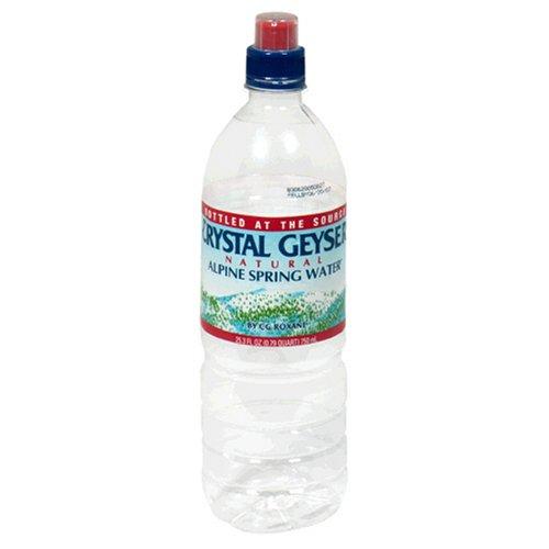 (Crystal Geyser Alpine Spring Water, Sport Cap, 23.66 Fl)