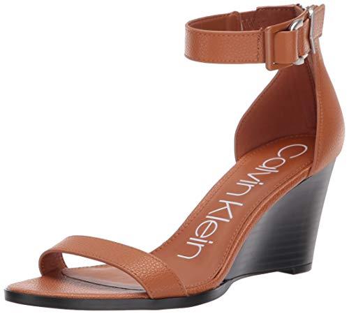 Calvin Klein Women's Wilhelmina Wedge Sandal, Vachetta, 6.5 M US