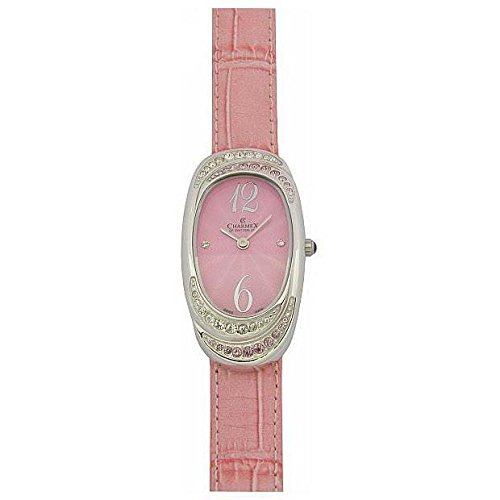 Charmex L's Strap Watch 5789 47mm Stainless Steel Case Pink Calfskin Synthetic Sapphire Women's Watch