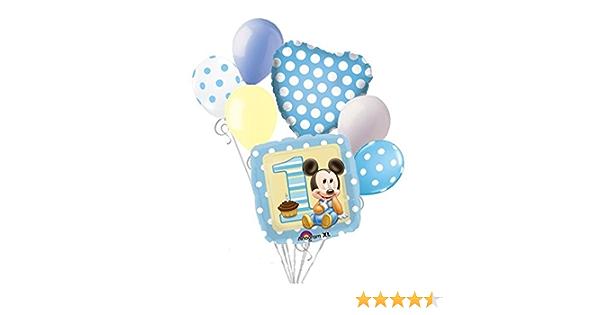 F/ête Pr/énatale . Rose YKKJ Mickey Balloons,D/écorations danniversaire Mickey Mouse,F/ête sur Le Th/ème Minnie D/écorations,Joyeux Anniversaire Banni/ère pour Anniversaire