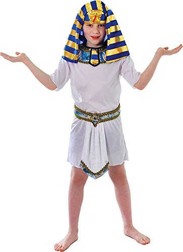 Kids Boys Egyptian King Pharoah Fancy Dress Party Outfit Tunic Costume (Egyptian Outfits For Boys)