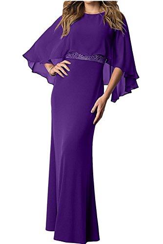 Brautmutterkleider Charmant Ballkleider Partykleider Abendkleider Chiffon Lila Damen Festlichkleider Langes xwqgIU7