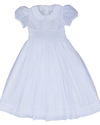 First Holy Communion Girls White Dress Hand Smocked Size 12 / -