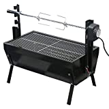 Titan 28' Stainless Steel Electric BBQ Rotisserie Grill w/Roaster Spit Rod