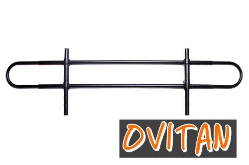 OVITAN Hundegitter fürs Auto 2 Streben universal zur Befestigung an den Kopfstützen der Rücksitzbank - für alle Automarken geeignet - Modell: H02