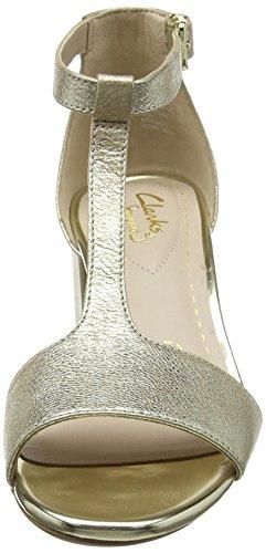 Clarks Skønhed Byg T-lås, Rose, Én Størrelse Sølv (champagne)