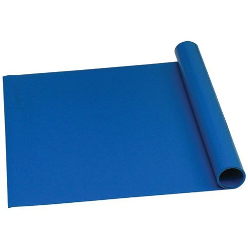 Trustat 16319 Extruded Homogenous Vinyl Table Mat, Blue, 48'' x 50' by Trustat