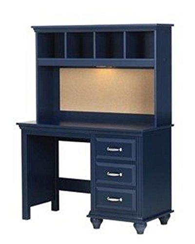 Lang Furniture Madison 4-Drawer Desk with Pencil Tray, 20 by 45 by 31-Inch, Indigo Blue