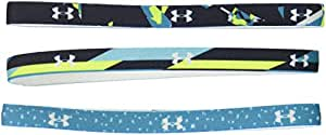 Under Armour Girl's Graphic Headbands (6 Pack), Academy (408)/White, One Size