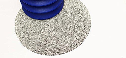 Chilewich Dot Shag Indoor/Outdoor Round Floor Mat White 24