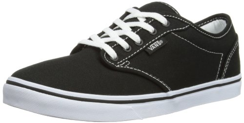 Unisex Atwood Low Skateboarding Canvas Adults' Canvas Shoes Black White Vans HBwqTdF7H