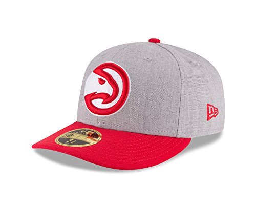 NBA Atlanta Hawks Men's Low Profile 59FIFTY Fitted Cap, 7.375, Heather Gray (Atlanta Hawks Fitted Cap)