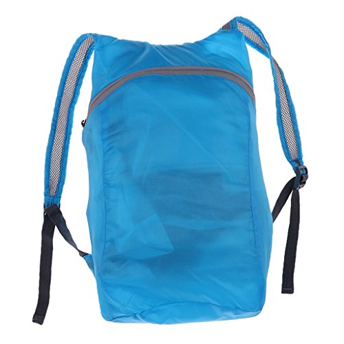 Price comparison product image MonkeyJack Large Capacity Foldable Packable Lightweight Travel Hiking Backpack Daypack Waterproof Cycling Shoulder Bag Rucksack - Sky Blue,  one size