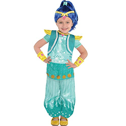 Amscan Shimmer and Shine Halloween Costume for Girls, Shine, Small, with Included Accessories -