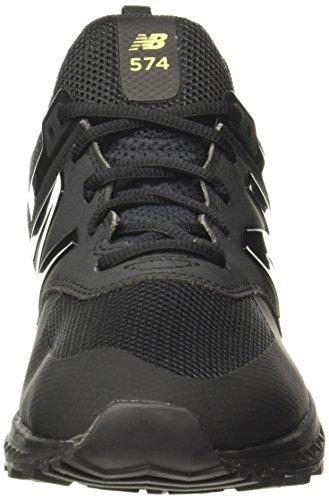 schwarz Damen New Balance Sneaker silber Aptqf7gxwq