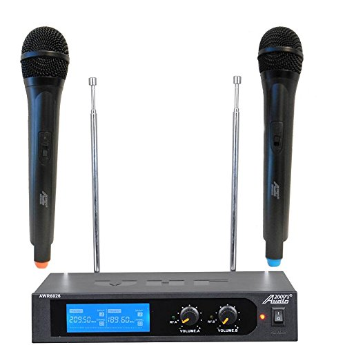 AWM6026 Audio2000'S VHF Dual-Channel Wireless Microphone System