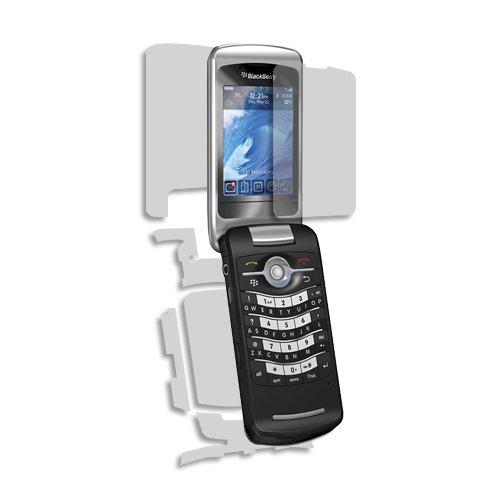 (BlackBerry Pearl Flip 8220 Screen Protector + Full Body, Skinomi TechSkin Full Coverage Skin + Screen Protector for BlackBerry Pearl Flip 8220 Front & Back Clear HD Film)