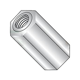 1000 pcs Aluminum Alloy # 2011 Hex Female Standoffs #8-32 X 3//16 1//4 Across Flats