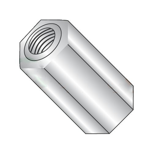 1/4'' OD Hex Standoffs (Female-Female)/4-40 x 3/8''/Aluminum/Outer Diameter: 1/4''/Thread Size: 4-40/Length: 3/8'' (Carton: 1,000 pcs)