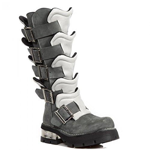De Nouvelles Bottes De Rock M.1513-c2 Hardrock Punk, Gothique Unisexe Stiefel Grau