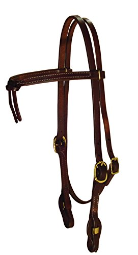 Berlin Custom Leather Headstall Hermann Oak Knotted Brow Oiled H204 ()