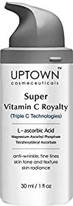 Uptown Cosmeceuticals L-ascorbic Acid Super Vitamin C Serum for Anti-Wrinkle, Fine Lines, Age Spots and Dark Circle, 30 ml