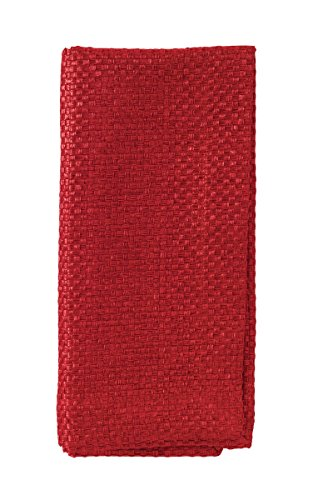 Bodrum Lucent Red Polyester Napkins (Set of 6) 22 by Bodrum