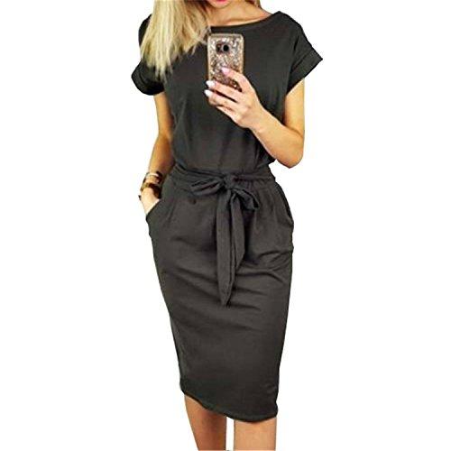 Women Casual Vintage Dress Sexy Bandage Bodycon Short Sleeve Dresses Plus Size Sundress Vestido 3XL