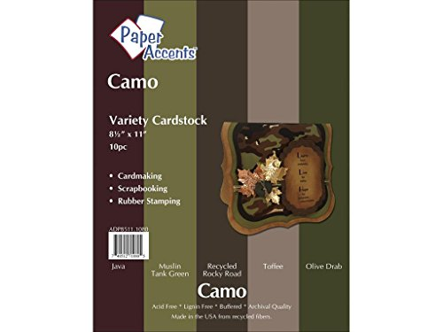 Accent Design Paper Accents Variety Pk VPk 8.5x11 Camo