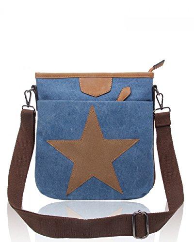 School Women's LeahWard Bags 2039 Canvas Men's Messenger Handbags DIVERDOUBLE 160434 Satchel POCKETS Ladies YqrYw58