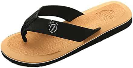 fd8a37ba6203e VonVonCo Men s Summer Flip-Flops Slippers Beach Sandals Indoor Outdoor Casual  Shoes