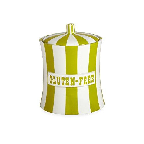 Jonathan Adler - Canister - Gluten Free - Lime & White by Jonathan Adler