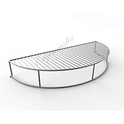 Edgemaster Stainless Steel Warming Grilling Smoking Expansion Rack Grid Grate Fits 22/22.5 inch Weber Charcoal Kettle Grills Warming Rack Grid