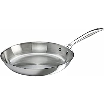 Amazon Com Le Creuset Tri Ply Stainless Steel Fry Pan 8