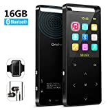 MP3 Player with Bluetooth,16GB Music Player with FM Radio/Voice Recorder,HiFi Lossless Sound Quality,Metal, Alarm Clock, Touch Button, HD Sound Quality Earphone, 2018 Newest Model, with an Armband