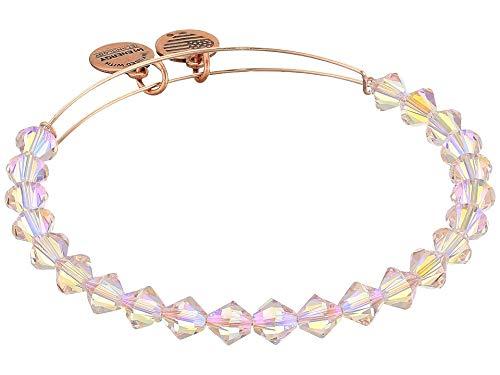 (Alex and Ani Women's Starlight Shimmer Bangle Bracelet, Shiny Rose Gold, Expandable)