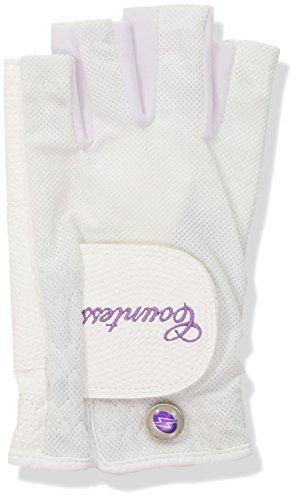 PowerBilt Countess Half-Finger Golf Glove - Ladies LH Large, White(Large, Worn on Left Hand) by PowerBilt